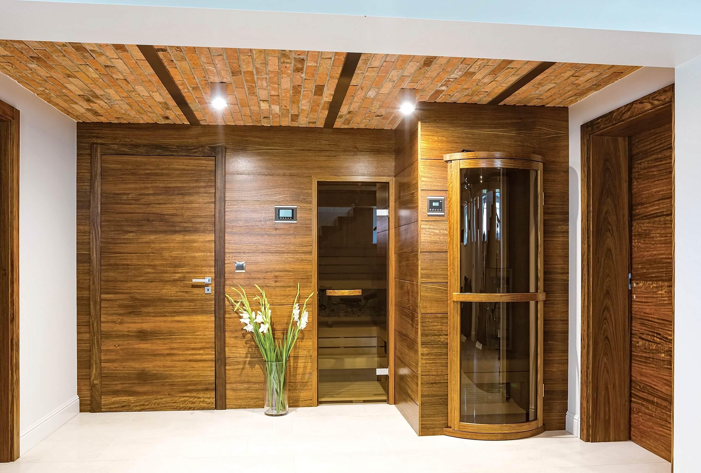 aranżacja piwnicy - sauny