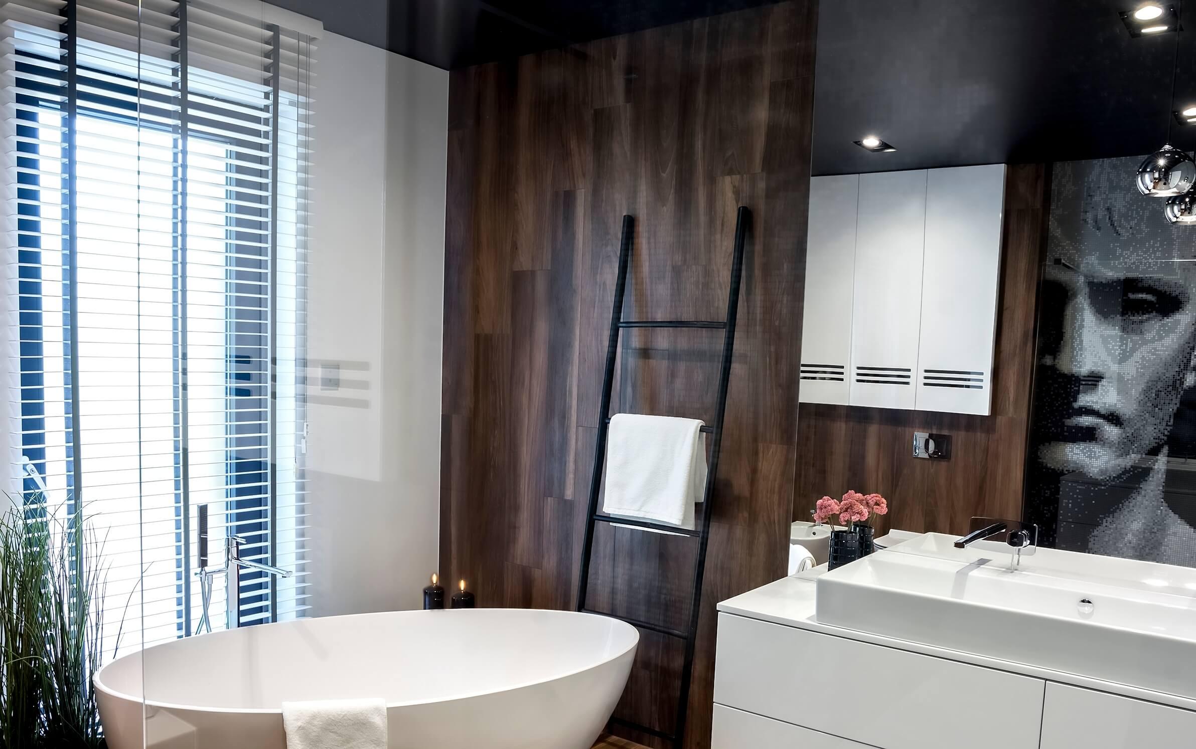 Projekt -aranżacja łazienki-wanna wolnostojąca